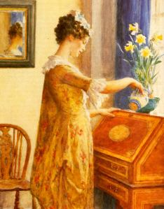 Watering Daffodils - William Henry Margetson