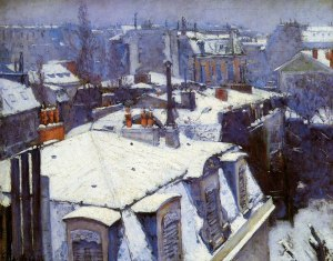 Gustave Caillebotte (1848-1894), Rooftops in the Snow