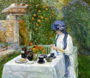 French Tea Garden - Childe Hassam