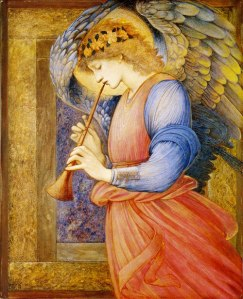 Edward Burne-Jones, An Angel Playing a Flageolet, 1878