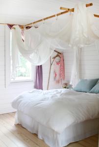 dormitorio blanco bohemio