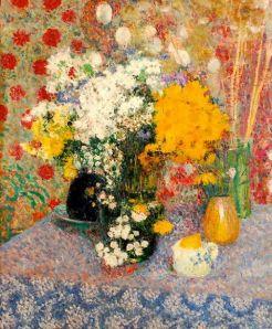 Georges Lemmen (Belgian, 1865-1916), Vases de fleurs sur une table, June 1905.