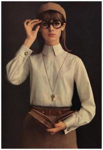Jean Shrimpton, Lady Van Heusen, 1964. For Altman, Stoller.